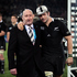 Hobbs presented Richie McCaw with his 100th test cap after the All Blacks Rugby World Cup group match against France. Photo / File 