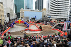 Downtown Auckland was converted into an extreme enduro course in 2009 for the inaugural Red Bull City Scramble. Photo / Andy McGechan, BikesportNZ