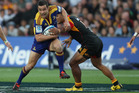 Tamati Ellison of the Highlanders in action. Photo / Getty Images