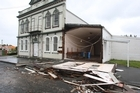 The storm has left buildings damaged in Wanganui. Photo / Herald on Sunday
