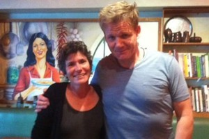 Yael Shochat couldn't believe it when British chef Gordon Ramsay turned up to eat at her Auckland restaurant, Ima Cuisine, yesterday. Photo / Supplied