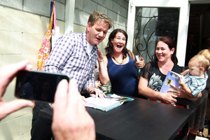 Gordon Ramsay was at pains to show his nicer side to fans.  Photo / Doug Sherring