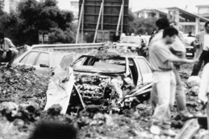 Giovanni Falcone died in a huge car bomb on a highway near Palermo in May 1992. His wife and three policemen were also killed. Photo / AP