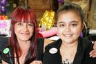 Rhayne Pirini-Kake at her surprise birthday party with her mother, Natasha Kake-Harrison. Photo / Robert Trathen