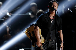 Bruce Springsteen performs at the 54th annual Grammy Awards. Photo / AP
