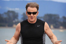 Celebrity chef Gordon Ramsay out for a run after settling a dispute with Duco Events over his failure to front at a charity dinner last year. Photo / Greg Bowker