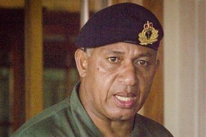 Commodore Frank Bainimarama. Photo / Greg Bowker