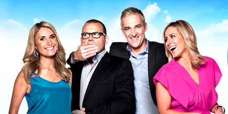 Australia's Channel Ten Breakfast show team (from left) Magdalena Roze, Paul Henry, Andrew Rochford and Kathryn Robinson. Photo / Supplied