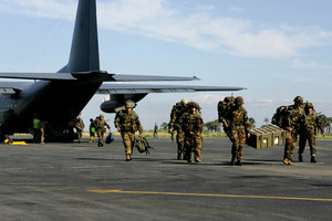 Kiwi Troops in East Timor in 2006. In the most recent NZDF survey, staff morale was at its lowest point since the survey began eight years ago. File photo / NZPA