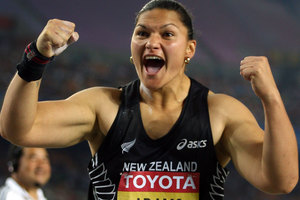 Valerie Adams will get her first major workout of the year this weekend. Photo / Getty Images