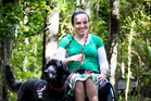 Amy Hogan says Smith's Bush in Milford is great for taking her mobility dog Bonnie for off-leash walks. Photo / Natalie Slade