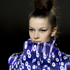 A model wears a creation by designer Mary Katrantzou during a fashion show at London Fashion Week. Photo / AP