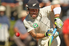 Brendon McCullum bats during day two of the opening test. Photo / Getty Images