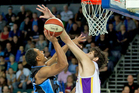 Mika Vukona in action for the Breakerrs at Vector Arena during a clash against Sydney in January. Photo / Brett Phibbs