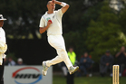 Chris Martin bowls during day one of the First Test match between New Zealand and South Africa. Photo / Getty Images