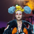 A model wears a creation by designer Meadham Kirchhoff during a fashion show at London Fashion Week. Photo / AP