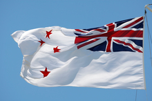 The New Zealand navy flag. Last week was the anniversary of the sinking of the Royal Navy heavy cruiser, HMS Exeter Photo / File