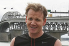 Celebrity chef Gordon Ramsay was out for a run after settling a dispute with Duco Events over his failure to front at a charity dinner last year. Photo / Greg Bowker