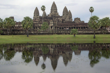 Cambodia's 12th-century Angkor Wat temple near Siam Reap. Photo / Jim Eagles