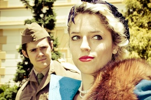Reluctant lovers Benedick and Beatrice capture the mood of the late 1940s. Photo / Supplied
