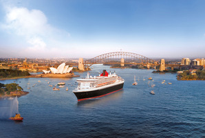 The Queen Mary 2 in Sydney Harbour. Photo / Supplied
