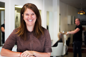 Sara Allsop from Dharma salon. Photo / Natalie Slade