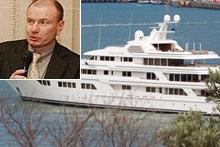 Superyacht Ocean Victory has attracted widespread interest. Inset: Vladimir Olegovich Potanin. Photos / Paul Estcourt / Supplied