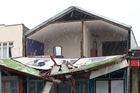 Storm damage in Patea after a weather bomb passed over the lower North Island. Photo / Kevin Bone