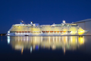 Celebrity Cruises' new ship, Celebrity Silhouette, was launched in Hamburg last year. Photo / Supplied