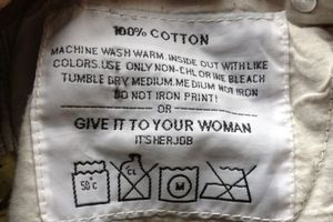 The controversial washing label. Photo / supplied