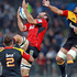 George Whitelock of the Crusaders and Liam Messam of the Chiefs compete for a high ball. Photo / Getty Images