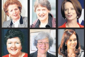 Women leaders including Margaret Thatcher, Helen Clark, Julia Gillard, Cristina Fernandez, Carmen Lawrence and Joan Kirner have faced challenges. Photos / AP