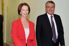 Australian Prime Minister Julia Gillard with treasurer Wayne Swan.  Photo / Getty Images