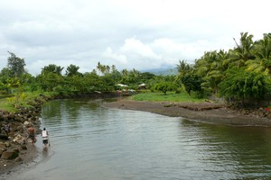 The Vaisigano River in Samoa, where a New Zealand woman reportedly drowned today in flash floods. Photo / Supplied