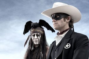 Johnny Depp as Tonto and Armie Hammer as The Lone Ranger.  Photo / Twitter