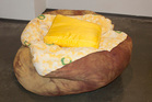 A whole new meaning to the term couch potato - the baked potato beanbag. Photo / Supplied