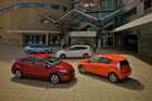 Toyota's Prius range - the company is hoping that the small Prius c is going to attract new buyers to the hybrid market. Photo / Supplied