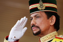 Brunei's Sultan Hassanal Bolkiah. Photo / AP
