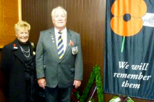 Former Otaki RSA president Don Moselen - pictured with wife Doreen - has admitted wearing medals he was not entitled to. Photo / Supplied