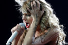 Singer Taylor Swift performs live at the Vector Arena. Photo / Natalie Slade