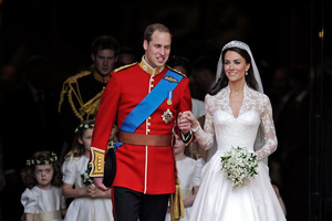 Britain's Prince William and his wife Kate, Duchess of Cambridge. According to the Sundem/Tierney Unified Celebrity Theory their marriage is more likely to last. Photo / AP
