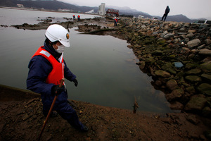 Japan is today marking the one-year anniversary of the devastating quake and tsunami that hit the nation. Photo / AP