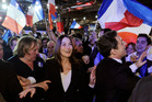 France's President Nicolas Sarkozy leaves a meeting with Carla Bruni Sarkozy and French actor Gerard Depardieu in Villepinte. Photo / AP