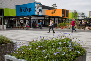 Rangiora businesses may soon need to trade out of shipping containers, like the  Re:START Mall in central Christchurch shown here. Photo / Simon Baker