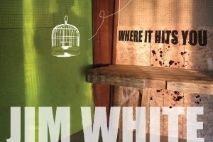 Jim White's album cover for 'Where it Hits You'. Photo / Supplied