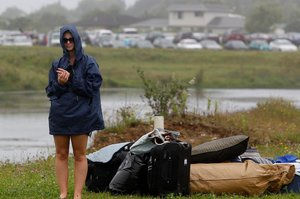 Holiday park guest nights dropped 4.5 per cent as the rain kept falling. Photo / Christine Cornege