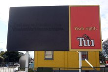 Another Tui billboard has turned heads - this one redheads. Photo / File 