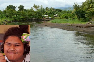 The Vaisigano River in Samoa, where New Zealand teenager Tai Pilitati (inset) reportedly drowned in flash floods. Photos / Supplied