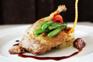 Slow-roasted duck at Altar Cafe.  Photo / Richard Robinson