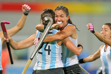 Rosario Luchetti opened the scoring for Argentina. Photo / Getty Images